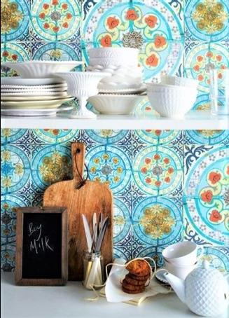 rivestimento per cucina stile mediterraneo
