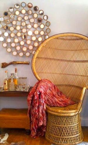 sedia gigante in stile bohemien
