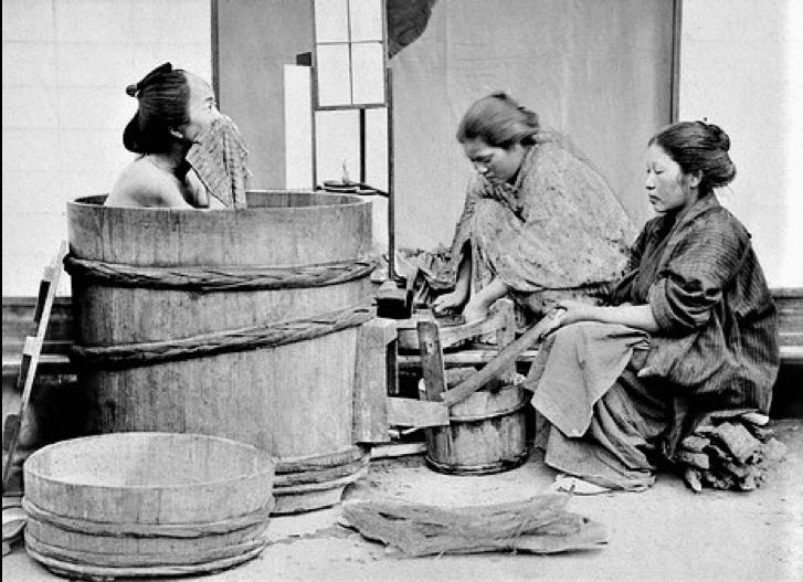 storia del bagno giapponese
