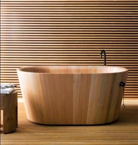 vasca in legno stile giapponese
