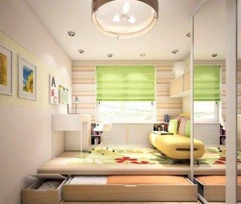 cameretta per bambini con cassettone letto