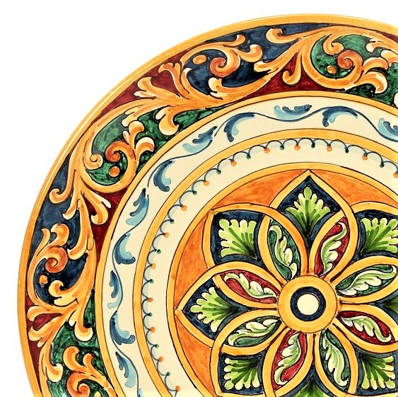 piatto con disegni siciliani