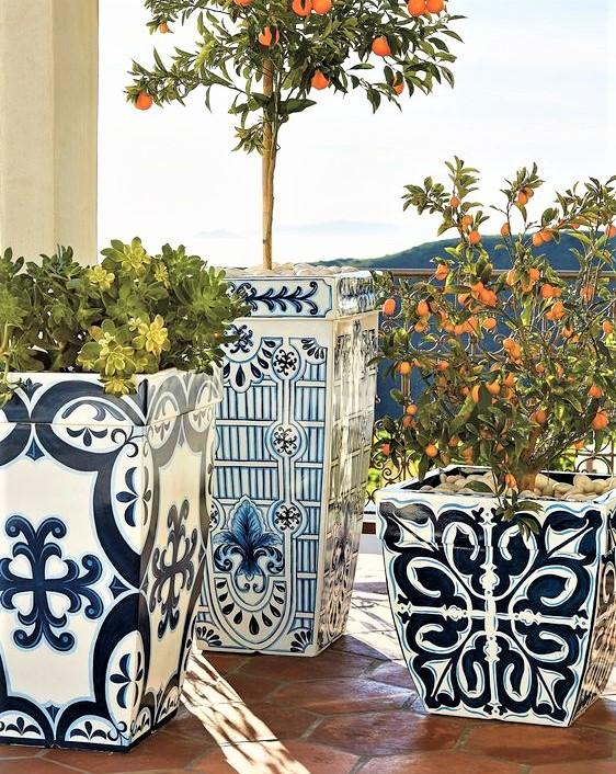 vasi tipici dello stile mediterraneo